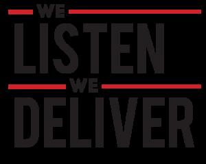 """IP Design Group's tagline """"We Listen We Deliver"""""""
