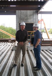 Andrew Hanrath and Brett McCarthy on the 1201 Cass job site.
