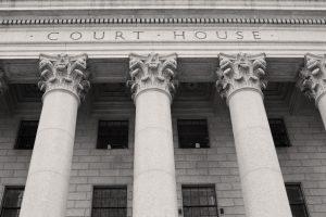 Exterior view of a courthouse facade.