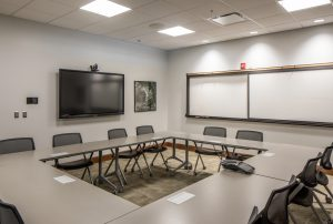 View inside a conference room at Eppley Airport